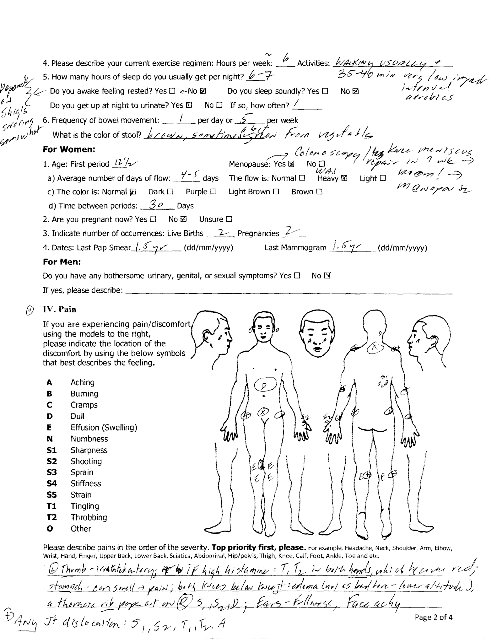 Furukawa Cynthia Registration Page 2 - KOSA Acupuncture for Ehlers-Danlos syndrome and Mast cell activation disorder