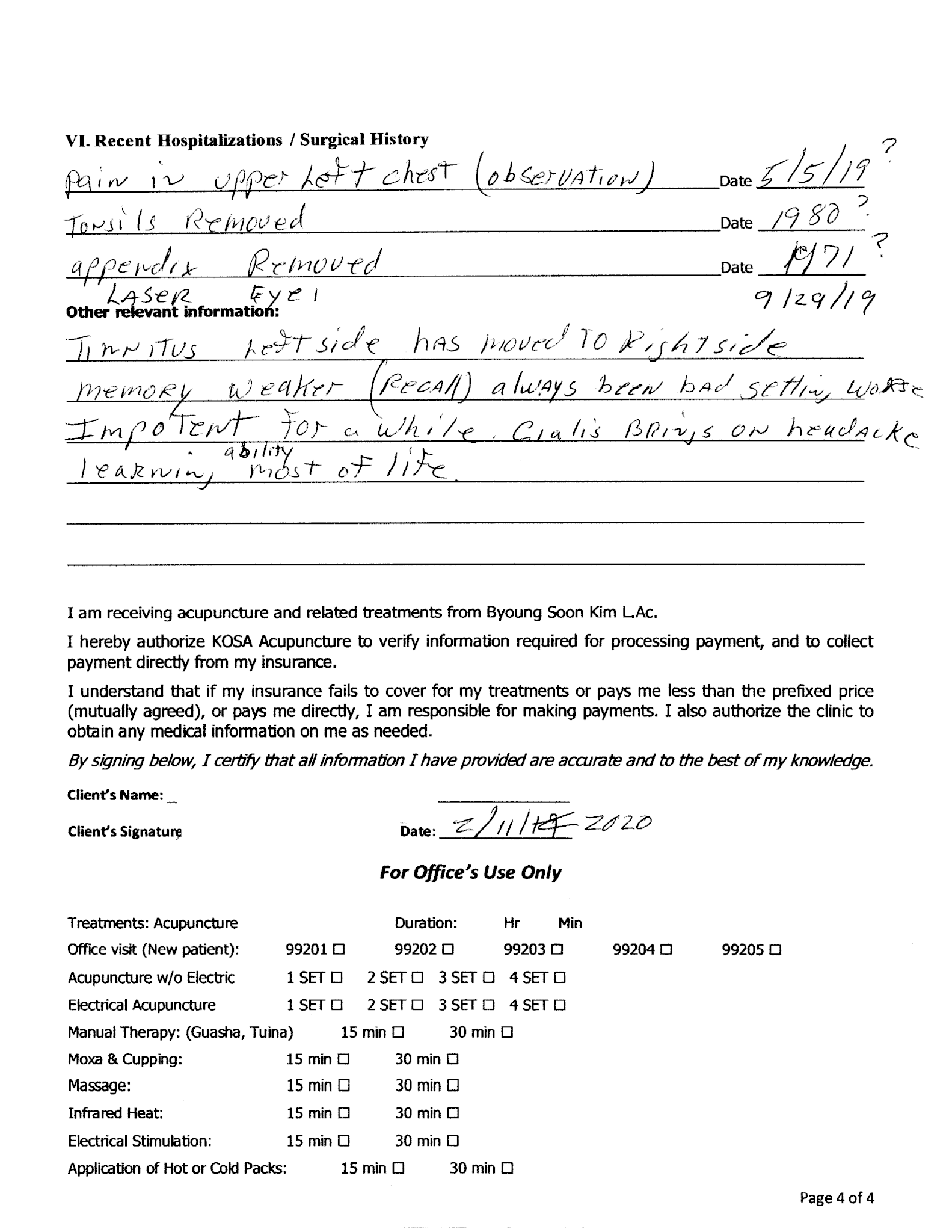 kosa182 Page 4 - Tinnitus Testimonial, LV - KOSA Acupuncture